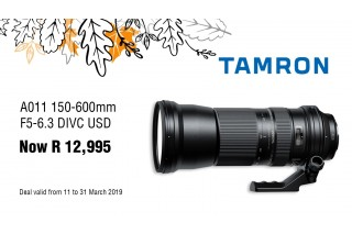 Tamron 150-600 SP Sale - Valid: 11th - 31st March 2019