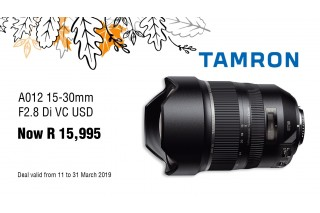 Tamron 15-30 SP Sale - Valid: 11th - 31st March 2019