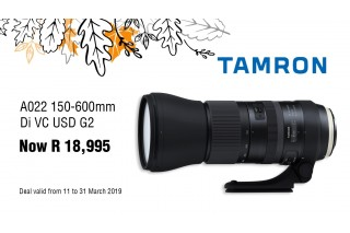 Tamron 150-600 G2 Sale - Valid: 11th - 31st March 2019