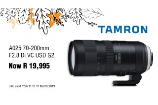 Tamron 70-200 G2 Sale - Valid: 11th - 31st March 2019