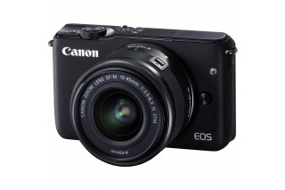 Canon EOS M10 Mirrorless Camera with 15-45mm Lens (Black)